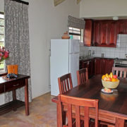 Chalet dining room and kitchen